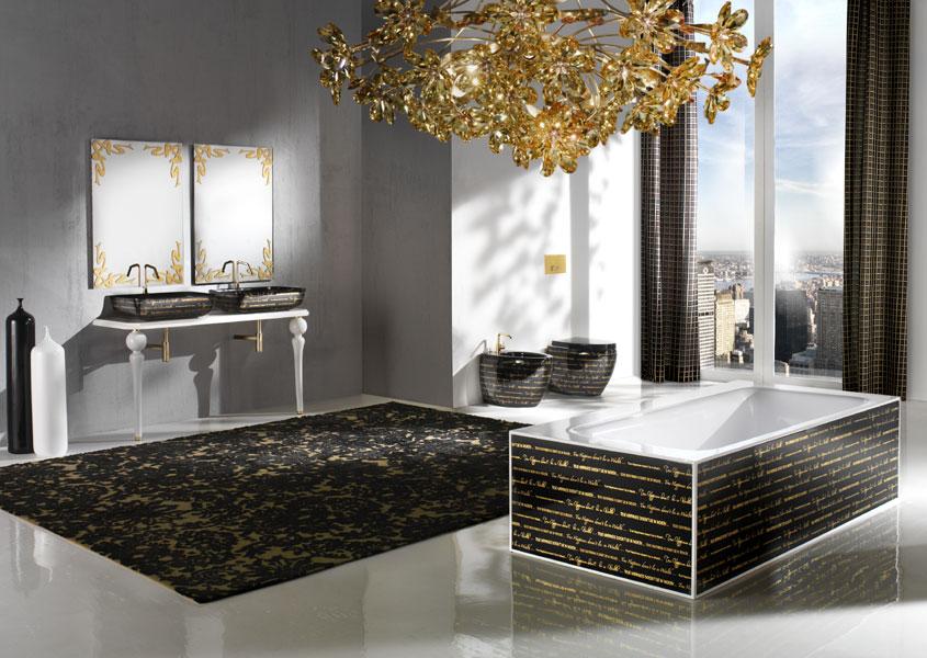 Black Gold Bathroom Collection Crystalluxe London